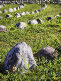 Curve of rocks Stock Photography