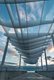 Curve Roof Viewing Platform Stock Image