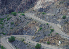 Curve Route, Mendoza. Curve Route in Mendoza, Argentina Royalty Free Stock Photos