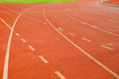 Curve of running racetrack Royalty Free Stock Images
