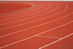 Curve of a Running Track. Life always Curve Royalty Free Stock Photography