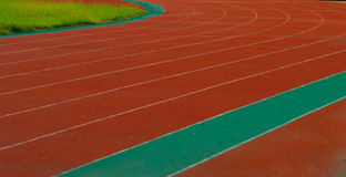 Curve running track Stock Image