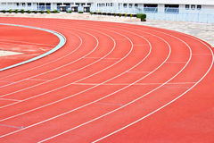 Curve of a Running Track. Curve of a Red Running Track stock images