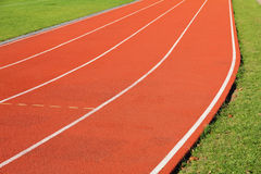 Curve of the running track Stock Photography