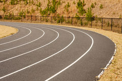 Curve in Running track Royalty Free Stock Image
