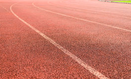 Curve of running track. Stock Photography