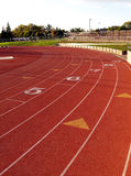 Curve On Running Track At Community College Stock Image