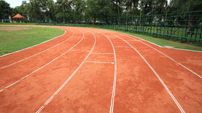 Curve running track lanes Royalty Free Stock Images