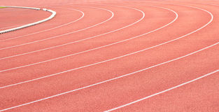 Curve of a Running Track Stock Image