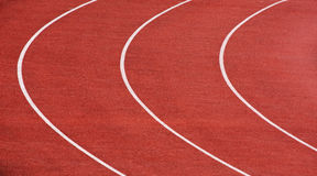 Curve of a running tracks Royalty Free Stock Images