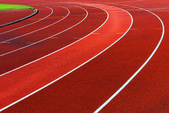 Curve of running tracks Royalty Free Stock Photo