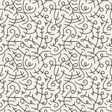 Curve seamless pattern. In retro style 80-90s fashion Royalty Free Stock Photography
