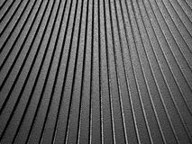 Curve shape silver aluminium metallic stripe pattern background Stock Photos