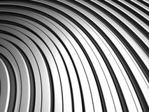 Curve shape silver aluminium stripe background Stock Photo