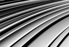 Curve shape silver aluminium stripe background Stock Image