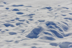 Curve shape snow background, nobody. Sunny day stock photography