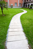 Curve stone path royalty free stock photography