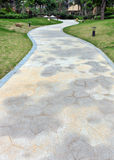 Curve stone path in garden Stock Photography