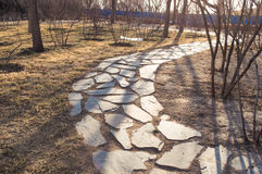 Curve Stone Walkway Royalty Free Stock Image