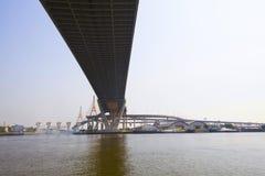 The suspension bridge,detailed Stock Images