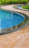 Curve of swimming pool Royalty Free Stock Image
