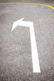 Curve to left sign on road Royalty Free Stock Photos