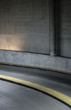 Curve to left in a subterranean tunnel Stock Photos