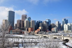 Calgary, torre da curva Imagem de Stock Royalty Free