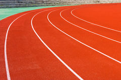 Curve in track Royalty Free Stock Photos