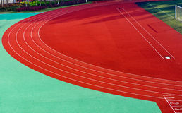 Curve in track Stock Images