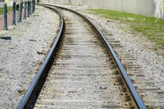 Curve in the Tracks Royalty Free Stock Images