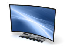 Curve TV. ( on white background Royalty Free Stock Photo