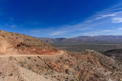 Curve on unpaved Death Valley road Royalty Free Stock Image