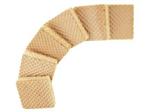 Curve wafer line Royalty Free Stock Photo