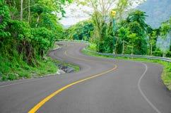 Curve way of asphalt road. Stock Images