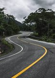 Curve and zigzag road. On the mountain Royalty Free Stock Photography