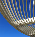 Curved aluminum pergola. Of the Getty Museum in Los Angeles, California, U.S.A Stock Photo
