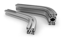 Curved aluminum profile Royalty Free Stock Photo