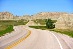 Curved American Road Royalty Free Stock Photos