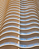 Curved apartment balconies Royalty Free Stock Images