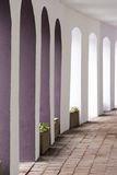 Curved archway in clean colours Royalty Free Stock Image