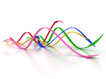 Curved arrows in different colors �1 Royalty Free Stock Photos