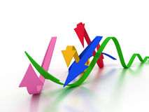 Curved arrows in different colors �3 Stock Images