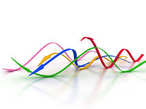 Curved Arrows In Different Colors №2 Royalty Free Stock Photography