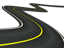 Curved asphalt road stock illustration
