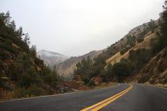 Curved asphalt road Stock Image