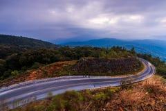 Curved asphalt road Stock Photo