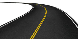 Curved asphalt road Royalty Free Stock Image