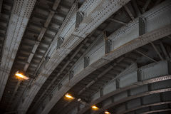 Curved Beams of Tunnel Stock Photo
