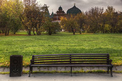 Curved bench Royalty Free Stock Image